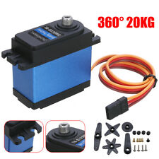 360° 20kg TD-8320MG Waterproof Metal Gear RC Servo Motor Car Boat Robotic CAO