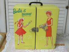 Vintage Barbie And Skipper Carrying Case Yellow 1964