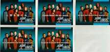 Star Trek TNG Inaugaural Edition Five Card Language Chase Set - Impel 1992
