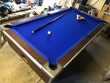 Challenger slate bed pool table 7ft x 4ft, blue baize