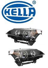 BMW E60 525i 545i Set of Left and Right Headlight Lamp Bi-Xenon Assy OEM Hella