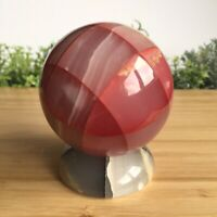 Gorgeous Vintage Pink Collectible Stone Sphere With Grey Base 7.7cm - 730g