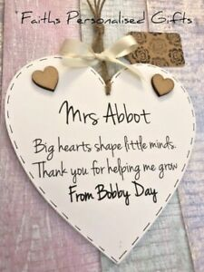 PERSONALISED TEACHER/CHILDMINDER THANK YOU GIFT*SHABBY CHIC PLAQUE*