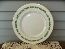 """Vintage Franciscan China Arcadia Green 10 1/2"""" Dinner Plate with Gold Rim"""