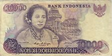1985 10000 RUPIAH INDONESIA CURRENCY BANKNOTE NOTE MONEY BANK BILL CASH 10,000