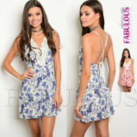 New Paisley Printed Mini Dress Crochet Summer Party Clubbing Size 6 8 10 XS S M