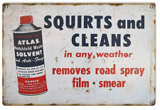 Atlas Solvent Motor Oil And Gas Station Sign