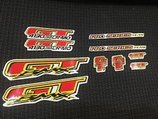 NOS GT PRO Series BMX Bike Bicycle Stickers Decals Set