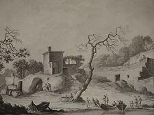 Gravure BACOLI BAIA NAPOLI NAPLES ITALIE ITALIA SAINT NON 1829 CHATELET VARIN