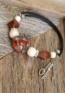 Red Beans & Rice Memory Bracelet by Cynthia Cochran