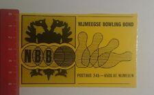 Aufkleber/Sticker: NBB Nijmeegse Bowling Bond (03121690)