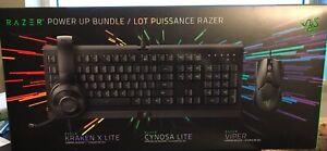 Razer Power Up Gaming Bundle Cynosa Lite + Kraken X Lite + Viper Mouse. NEW