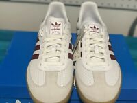 NWB Adidas Originals Men's Samba OG Size 10.5 White Burgundy Red BD7528