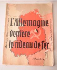 Antique French Political Magazine Germany L'Allemagne Derriere Le Rideau De Fer