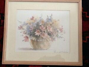 "Beautiful Floral Vase Print By Rosalind Oesterle - 13.3/4"" x 12"""