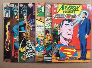 7 Book Silver Age Action Comics Lot 362 363 367 368 370 382 383 VG