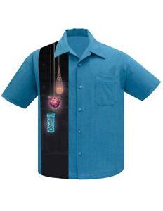 Steady Clothing Tiki Lights Pacific Rockabilly Bowling Button Down Shirt ST35472
