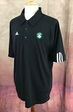 Adidas Pullover Short Sleeve Celtic Logo 100% Polyester Black Shirt Men's XL