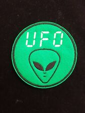 UFO Embroidered Patch Badge Iron on or Sew On.