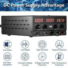 Regelbares DC Labornetzgerät 0-30V 0-10A Labornetzteil Netzgerät Stromversorg
