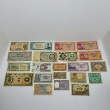 21 Pc Lot  of Different World Currency Foreign Banknotes, Some Early 1900s Circu