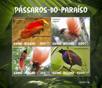 Guinea-Bissau Birds on Stamps 2020 MNH Greater Bird of Paradise 4v M/S