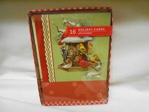 New Hallmark box of 16 Image Arts Christmas Greeting Cards & Envelopes Birds 🎄