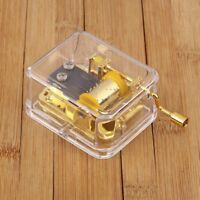 Hand Crank Hurdy Gurdy Clear Music Box Choice of Song Let It Go