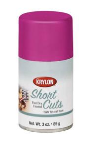 Krylon Short Cuts Spray Paint, Hot Pink, 3 Oz.