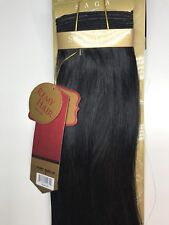 "SAGA GOLD YAKY 12""- #1_100% HUMAN REMY HAIR WEAVE STRAIGHT EXTENSION"