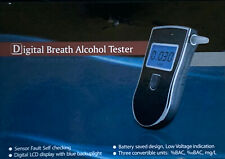Digital Breath Alcohol Tester/Professional Breathalyzer With 10 Mouthpieces