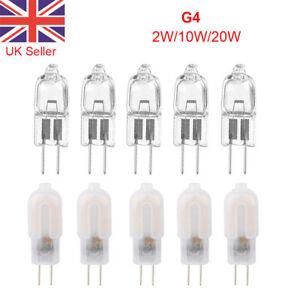 G4 Bulbs Halogen Capsule Lamp Light Watt 12V Volt Warm 10W/20W/ LED2W Cool White