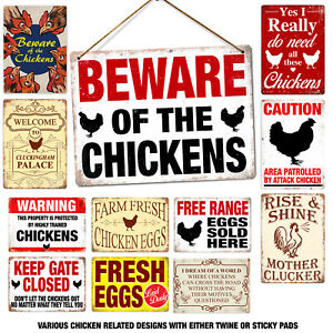Metal Wall Sign - Various Chicken Fanatic Owner Agricultural Farm