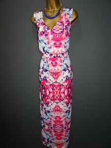 Together Women/'s Jersey Floral Pleated Maxi Dress BNWT