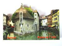 Annecy Palais d Isle 3 D Holz Souvenir Deluxe Magnet Frankreich France Neu
