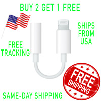 For Apple iPhone 7 8 X XS XR 11 Headphone Jack Lightning to 3.5mm Adapter Dongle