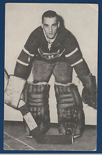 JACQUES PLANTE MONTREAL CANADIENS 50 S POST CARD LOW GRADE 11033