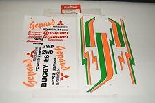 Graupner 5011.122   Gepard 1:6 RC Verbrenner Buggy Decals+Rarität aus den 80er
