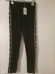 GIRLS MATALAN CANDY COUTURE BLACK PEARLED LEGGINGS AGES 10  / 11  / 12 BNWT