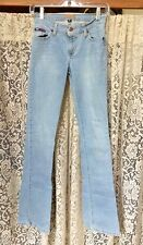 Tommy Jeans Light Wash Boot Cut Stretch Blue Jeans Junior 3 Long NICE!