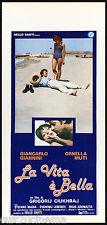 LA VITA E' BELLA LOCANDINA CINEMA FILM ORNELLA MUTI SEXY 1979 PLAYBILL POSTER