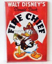 "VINTAGE DONALD DUCK FIRE CHIEF 2"" x 3"" Fridge MAGNET art disney movie"