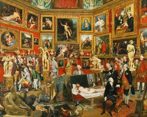 Johan Zoffany - Tribuna of the Uffizi Giclee Canvas Print