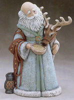 "Santa Feeding Reindeer 11"" Ceramic Bisque, Ready To Paint"