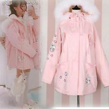 Japanese Sweet Women Lolita Pink Vogue Winter Princess Padded Jacket Coat Hooded