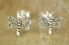 CUTE PAIR OF STERLING SILVER DRAGONFLY STUD EARRINGS  style# st17