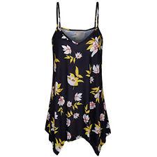 Pretty Boho Women Ladies Cami Vest Swing Camisole Sleeveless Tank Tops Plus Size