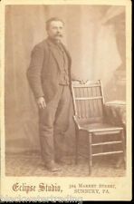 CABINET PHOTO MAN with BUSHY MOUSTACHE MUSTACHE ECLIPSE STUDIO Sunbury PA