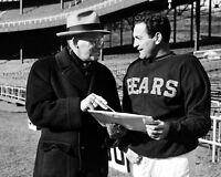 Chicago Bears GEORGE HALAS & SID LUCKMAN Glossy 8x10 Photo Football Print Poster