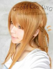 Hot! Sword Art Online/Asuna Long Light Brown Straight Cosplay Party Wig xc#